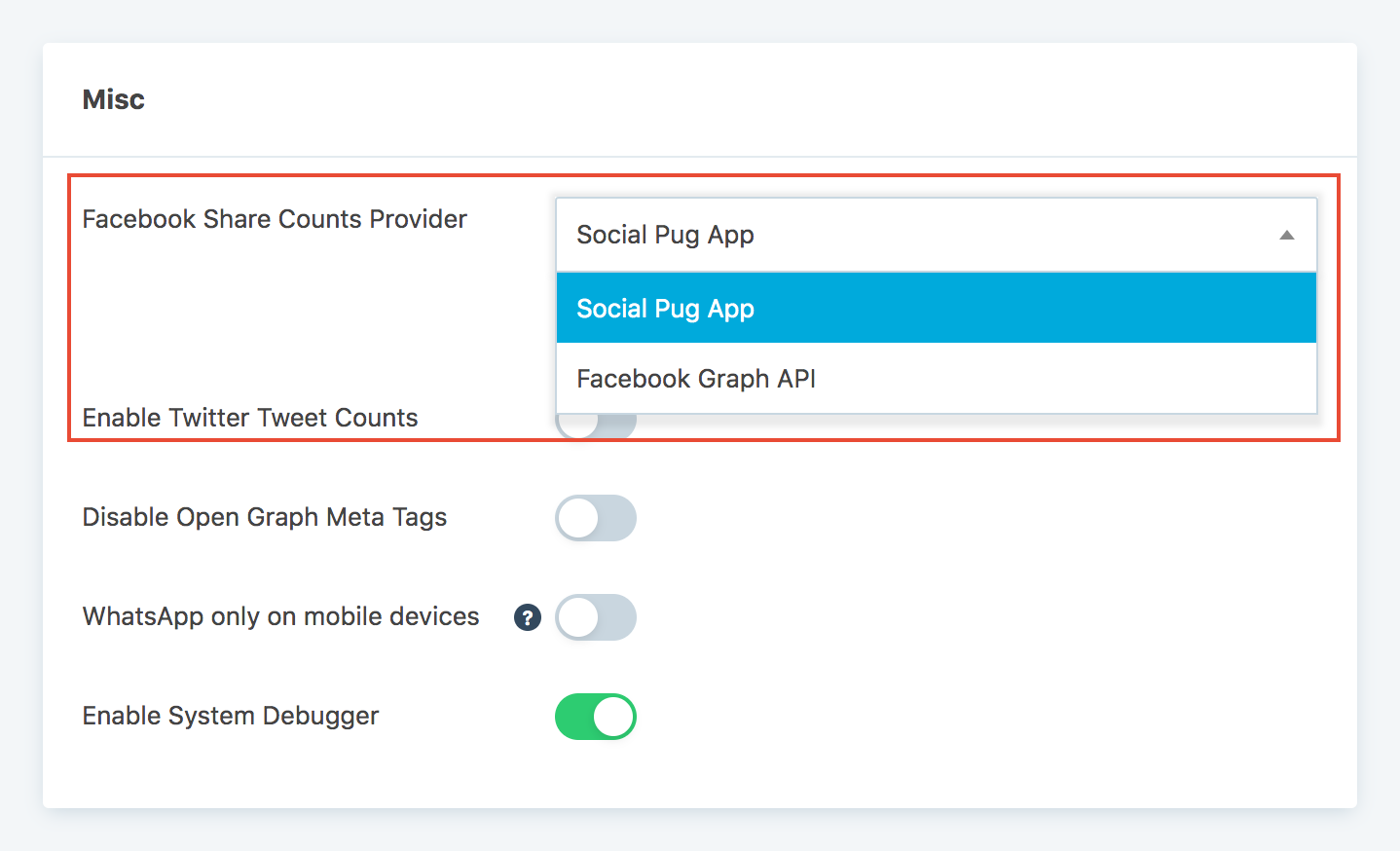 How to activate Facebook share counts | DevPups Docs